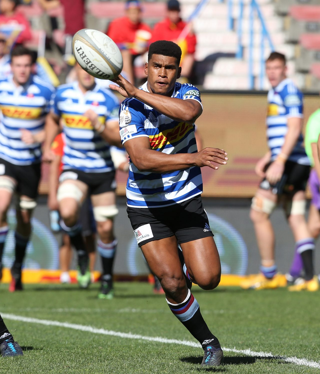 dca3f2efe7c CAPE TOWN, SOUTH AFRICA – AUGUST 26: Damian Willemse of Western Province  during the Currie Cup match between DHL Western Province and Cell C Sharks  at DHL ...